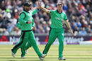 Ireland had a rare boost when Jason Roy fell for a duck in Peter Chase's first over, England v Ireland, 1st ODI, Bristol, May 5, 2017