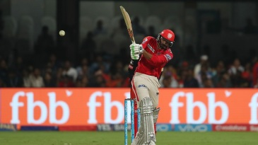 Axar Patel plays a cross-batted shot