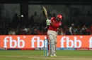 Axar Patel plays a cross-batted shot, Royal Challengers Bangalore v Kings XI Punjab, IPL 2017, Bengaluru, May 5, 2017