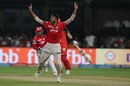 Axar Patel was delighted after removing Shane Watson, Royal Challengers Bangalore v Kings XI Punjab, IPL 2017, Bengaluru, May 5, 2017