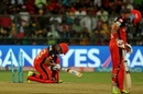 Mandeep Singh was on his knees after he was bowled out, Royal Challengers Bangalore v Kings XI Punjab, IPL 2017, Bengaluru, May 5, 2017