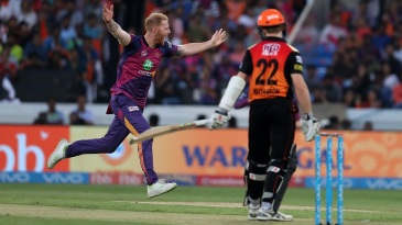 Ben Stokes is off to celebrate after dismissing Kane Williamson