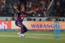 Imran Tahir's appeal was turned down by the umpire, Sunrisers Hyderabad v Rising Pune Supergiant, IPL 2017, Hyderabad, May 6, 2017