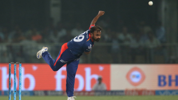 Amit Mishra in his follow through