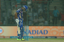 Lendl Simmons hangs his head in disappointment after holing out to Marlon Samuels, Delhi Daredevils v Mumbai Indians, IPL 2017, Delhi, May 6, 2017