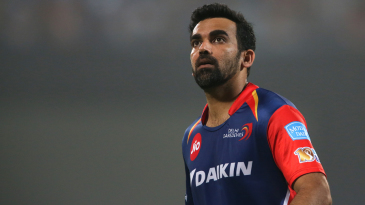 Zaheer Khan wears a look of astonishment