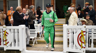 William Porterfield led Ireland out for their historic match