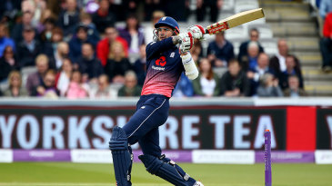 Alex Hales fetches one over the leg side