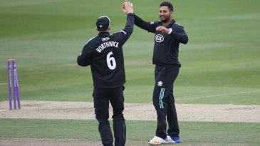 Ravi Rampaul disturbed Luke Wright's stumps