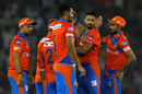 Pradeep Sangwan celebrates the wicket of Martin Guptill with his team-mates, Kings XI Punjab v Gujarat Lions, IPL 2017, Mohali, May 7, 2017