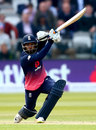 Adil Rashid drives on his way to 39 from 25 balls, England v Ireland, 2nd ODI, Lord's, May 7, 2017