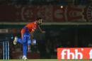 Ankit Soni in his follow through, Kings XI Punjab v Gujarat Lions, IPL 2017, Mohali, May 7, 2017