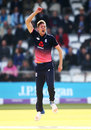 Jake Ball picked up the crucial wicket of Paul Stirling, England v Ireland, 2nd ODI, Lord's, May 7, 2017