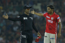 Sandeep Sharma got into a heated argument with the umpire over a no-ball decision, Kings XI Punjab v Gujarat Lions, IPL 2017, Mohali, May 7, 2017