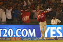 Martin Guptill holds on to a catch to send Dwayne Smith back, Kings XI Punjab v Gujarat Lions, IPL 2017, Mohali, May 7, 2017