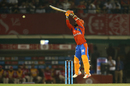 Dinesh Karthik leaps to play the upper cut, Kings XI Punjab v Gujarat Lions, IPL 2017, Mohali, May 7, 2017