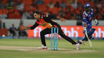 Mohammad Nabi took out Lendl Simmons in his first over