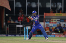 Harbhajan Singh smashes one towards point, Sunrisers Hyderabad v Mumbai Indians, IPL 2017, Hyderabad, May 8, 2017