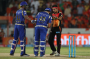 Siddarth Kaul walked up to Rohit Sharma after the latter was struck on the helmet by a bouncer, Sunrisers Hyderabad v Mumbai Indians, IPL 2017, Hyderabad, May 8, 2017