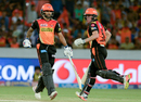 Shikhar Dhawan and Moises Henriques added 91 runs for the second wicket, Sunrisers Hyderabad v Mumbai Indians, IPL 2017, Hyderabad, May 8, 2017