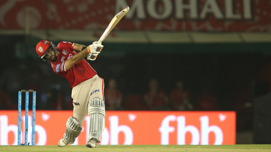Glenn Maxwell sends one sailing into the stands