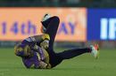 Manish Pandey tumbles while stopping a ball, Kings XI Punjab v Kolkata Knight Riders, IPL 2017, Mohali, May 9, 2017