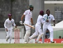 Shan Masood edged Roston Chase to Jason Holder, West Indies v Pakistan, 3rd Test, Roseau, 1st day, May 10, 2017