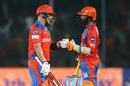 Aaron Finch and Dinesh Karthik added 92 runs for the fourth wicket, Gujarat Lions v Delhi Daredevils, IPL 2017, Kanpur, May 10, 2017
