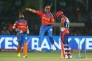 Suresh Raina was ecstatic after his direct-hit found Rishabh Pant short of the crease, Gujarat Lions v Delhi Daredevils, IPL 2017, Kanpur, May 10, 2017