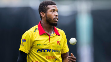 Chris Jordan bowls for City Kaitak in the Hong Kong Blitz