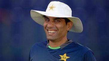 Misbah-ul-Haq smiles