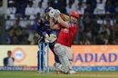 Shaun Marsh slogs the ball for a maximum, Mumbai Indians v Kings XI Punjab, IPL 2017, Mumbai, May 11, 2017