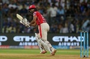 Wriddhiman Saha looks on after playing a deft shot down the leg side, Mumbai Indians v Kings XI Punjab, IPL 2017, Mumbai, May 11, 2017