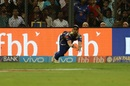Nitish Rana could not hold on to a tough catch at deep mid-wicket, Mumbai Indians v Kings XI Punjab, IPL 2017, Mumbai, May 11, 2017