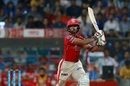 Wriddhiman Saha struck 11 fours and three sixes in his 55-ball knock of 93, Mumbai Indians v Kings XI Punjab, IPL 2017, Mumbai, May 11, 2017