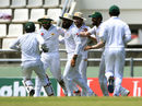 Azhar Ali took a tumbling catch at deep midwicket to send back Kieran Powell, West Indies v Pakistan, 3rd Test, Roseau, 3rd day, May 12, 2017
