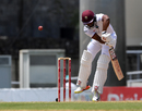 Shai Hope hops to defend an awkward delivery, West Indies v Pakistan, 3rd Test, Roseau, 3rd day, May 12, 2017