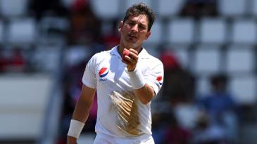 Yasir Shah took the wickets of West Indies' top three