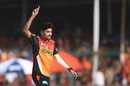 Mohammed Siraj took two wickets in the space of three deliveries, Gujarat Lions v Sunrisers Hyderabad, IPL 2017, Kanpur, May 13, 2017