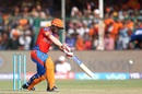 Ishan Kishan crunches the ball through cover for a four, Gujarat Lions v Sunrisers Hyderabad, IPL 2017, Kanpur, May 13, 2017