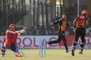 Aaron Finch was done in by a googly from Rashid Khan, Gujarat Lions v Sunrisers Hyderabad, IPL 2017, Kanpur, May 13, 2017