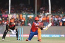Dwayne Smith's attempt at a reverse sweep did not come off, Gujarat Lions v Sunrisers Hyderabad, IPL 2017, Kanpur, May 13, 2017
