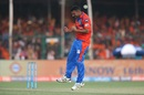 Praveen Kumar took two crucial wickets at the top, Gujarat Lions v Sunrisers Hyderabad, IPL 2017, Kanpur, May 13, 2017