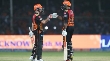 David Warner and Vijay Shankar took Sunrisers home