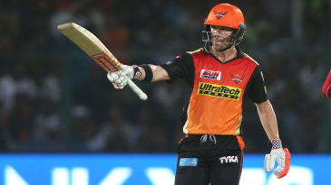 David Warner remained unbeaten on 69