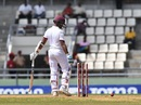 Shane Dowrich inside edged a delivery onto his stumps, West Indies v Pakistan, 3rd Test, Roseau, 4th day, May 13, 2017
