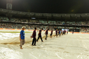 Seasonal showers effected a 30-minute delay in start of play, Kolkata Knight Riders v Mumbai Indians, IPL 2017, Kolkata, May 13, 2017