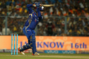 Saurabh Tiwary creams one through the covers, Kolkata Knight Riders v Mumbai Indians, IPL 2017, Kolkata, May 13, 2017