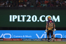 Chris Lynn heads back to the dressing room after being caught at deep midwicket, Kolkata Knight Riders v Mumbai Indians, IPL 2017, Kolkata, May 13, 2017