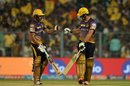 Manish Pandey and Colin de Grandhomme added 41 runs for the sixth wicket, Kolkata Knight Riders v Mumbai Indians, IPL 2017, Kolkata, May 13, 2017